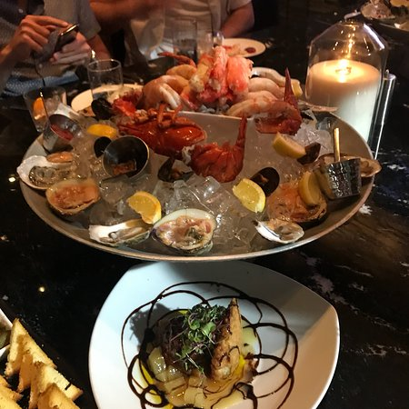 Red, the Steakhouse - South Beach: Seafood tower!