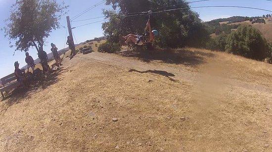 Yosemite Zipline Tour: My landing