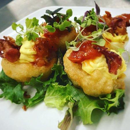 Lobster Pound Restaurant : Deep fried deviled eggs, yum yum!