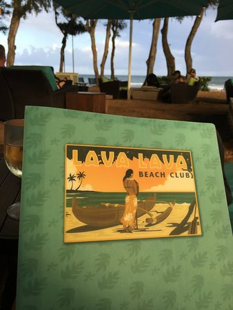 Lava Lava Beach Club: The Menu
