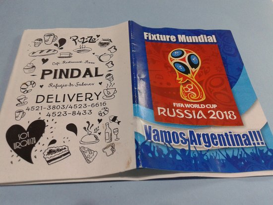 Pindal: Fixture del Mundial de Fùtbol- Villa Urquiza- Bs.As. 2018.
