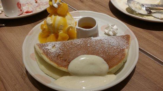 Woosa: 芒果冰淇淋鬆餅