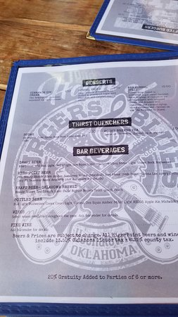 House of Burgers and Blues: Menu