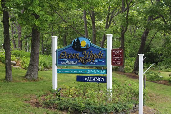 Ocean Woods Resort: Entrance sign