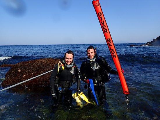 Izu Oceanic Park Diving Center - I.O.P.: After practice DSMB Skills