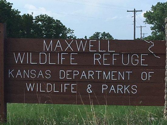 Maxwell Wildlife Refuge sign.
