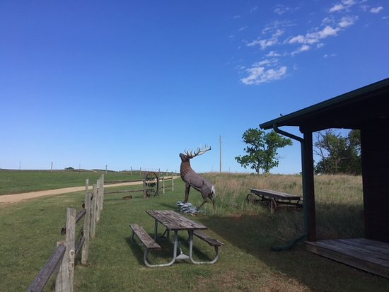 Maxwell Wildlife Refuge : Outdoor waiting area for tram.