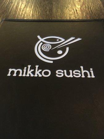 Mikko sushi menu cover