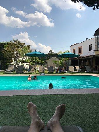 Posada de la Aldea: Nice and spacious pool area with plenty of shade