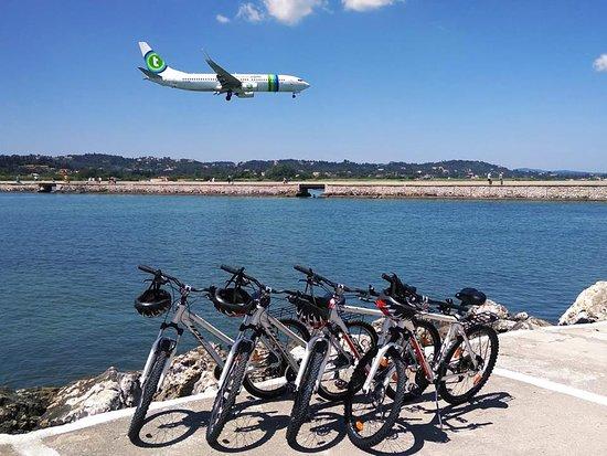 Corfu Bicycles: landing