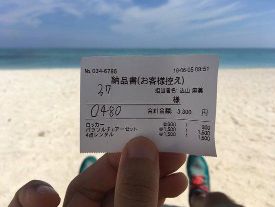 Nagannu Island: rental locker receipt