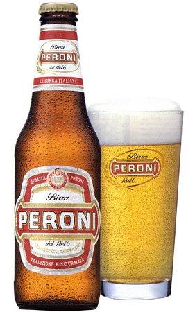 Tiki Bar and Restaurant: Italian beer Peroni available