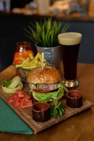 Burger Craft: BurgerCraft  selection with home made Craft Draft Beer