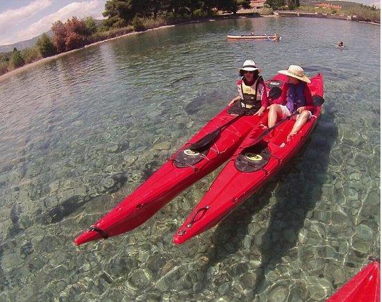 Tribal kayak Argolida sunken city