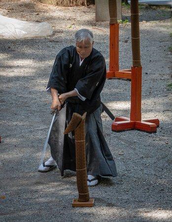 Suwa Shrine: Martial arts in the shrine grounds