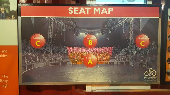 Phare, The Cambodian Circus: Seating selection