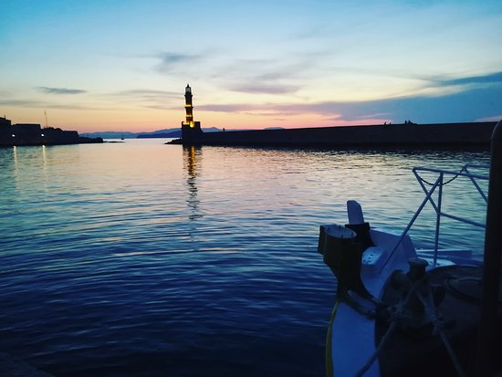 "Chania Cruises: Sunset from ""THIA MARO"" boat"