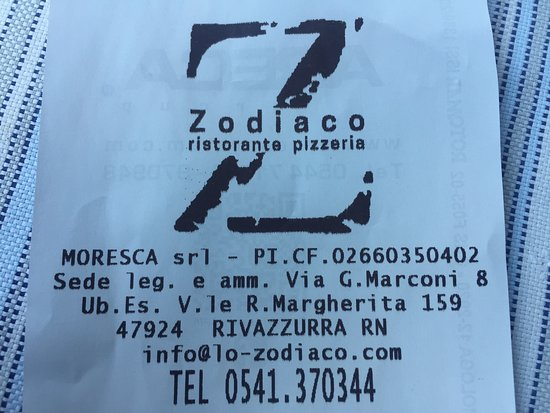 Ristorante Lo Zodiaco.