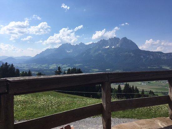 Baßgeigeralm : Blick von der Terrasse