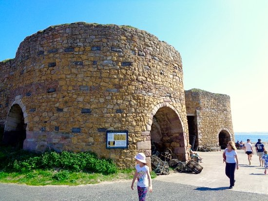 The Old Lime Kilns at Beadnell Beach
