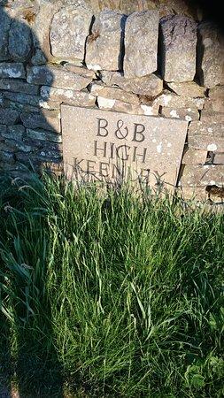 High Keenley Fell Farm: Farm entrance