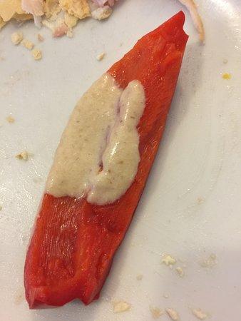 La Comba: Peperoni con crema alla bagna cauda