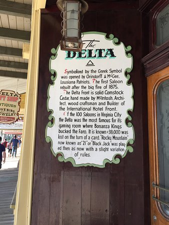 The Delta Saloon: Sign