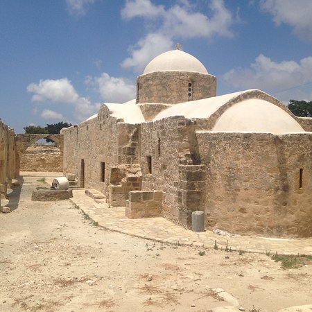 Sanctuary of Aphrodite at Palaipafos: The church just sat outside of the Paleopafos grounds