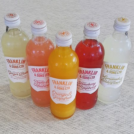 Franklin and Son's Sparkling Fruit Juices in stock at the Picnic Box