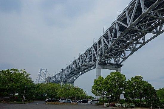 Michi-no-Eki Seto Ohashi Memorial Park: 迫力の瀬戸大橋