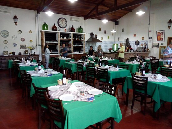 Vinícola Santa Bruna: Restaurante é grande e bem estruturado