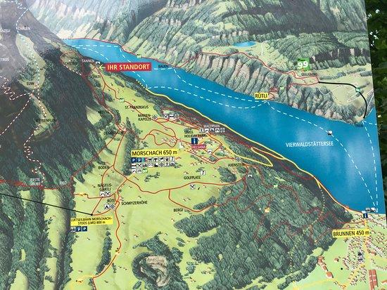 The Swiss Path: kort over hele bjerget og de mange ruter