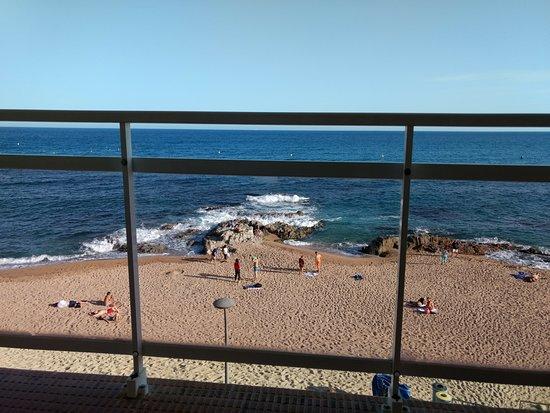 Hotel Rosamar Maxim: vue du balcon