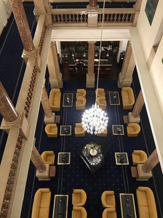Hotel Ambassador: View of bar from 3rd floor
