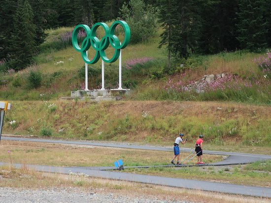 Whistler Olympic Park: The Olympic Rings.
