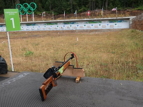 Whistler Olympic Park: The Biathlon shooting area.