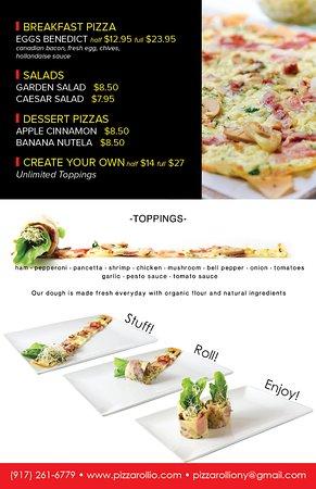 Pizza Rollio: Menu