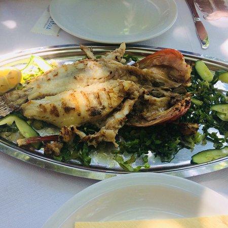 Mouria Fish Tavern Agnontas: Scorpion fish nice setting