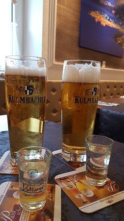 Restaurant Der Grieche: Kulmbacher Bier und Ouzo