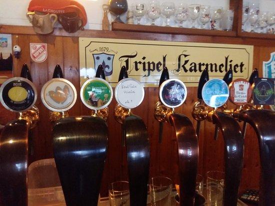 Ristorante Birreria Lapsutinna: alcune delle birre alla spina che ho trovato! un paio mi fanno impazzire!!!