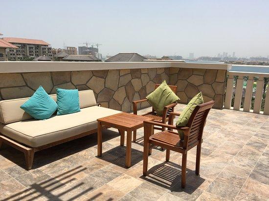 Sofitel Dubai The Palm: we were lucky to get a big balcony- thank you!