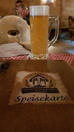 Turm Brau: Bierchen und Speisekarte