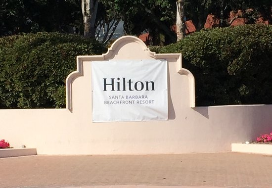Hilton Santa Barbara Beachfront Resort: Temporary Sign Indicating Name Change