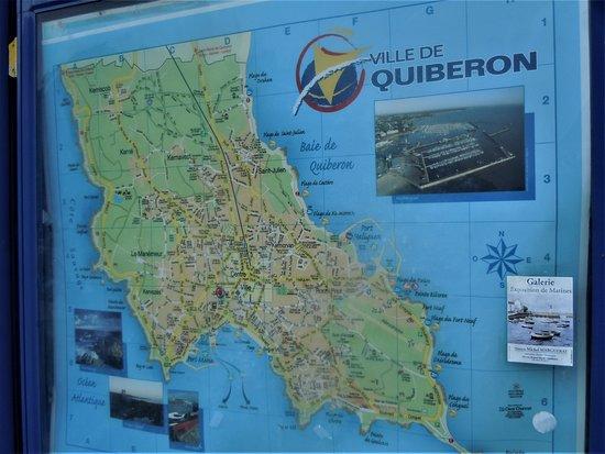 Office de Tourisme de Quiberon : Carte de la ville