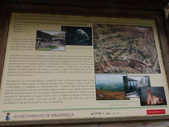 Cuevona de Cuevas del Agua: CARTEL INFORMATIVO
