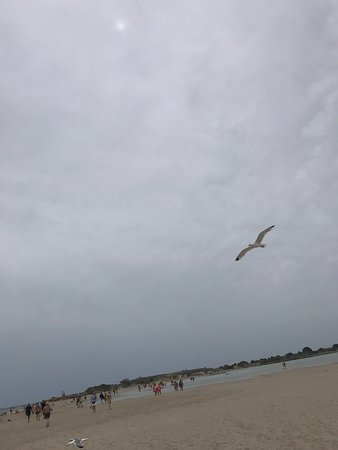 Elafonissi  Beach: Windy frey sky in May