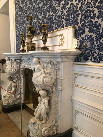 fireplace at Faberge Museum