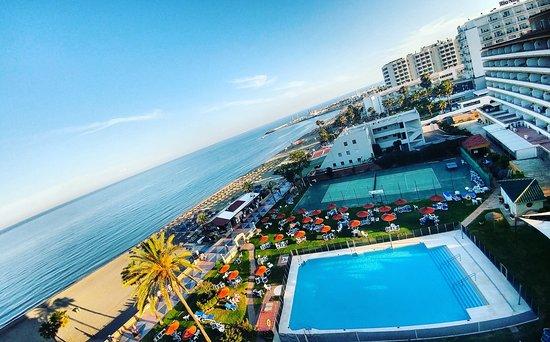 La Barracuda Hotel: Piscina, zona de jardines y acceso directo a la playa