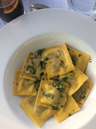The Athens Gate Roof Top Restaurant: Stuffed ravioli