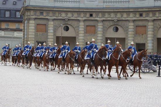 berittene garde ストックホルム ストックホルム宮殿の写真